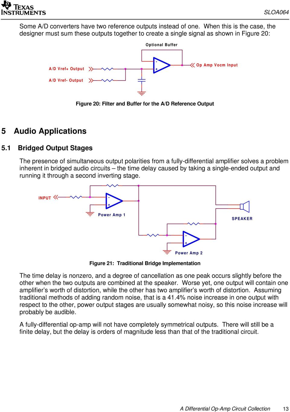 A Differential Op Amp Circuit Collection Pdf Simple H Bridge Motor Driver Electronic Opamp And Buffer For The D Reference Output Audio Applications