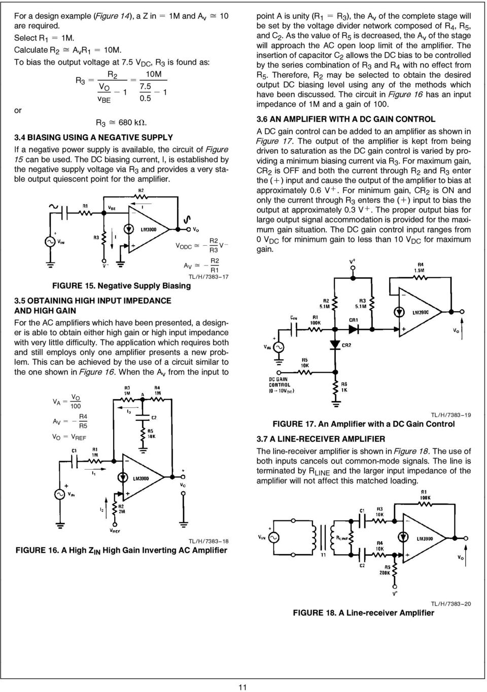 Lm3900 An 72 The A New Current Differencing Quad Of Plus Or Supply Bias Level At Ac Circuit Looks Like Your Basic Inverting Voltage Via R 3 And Provides Very Stable Output Quiescent Point For Amplifier