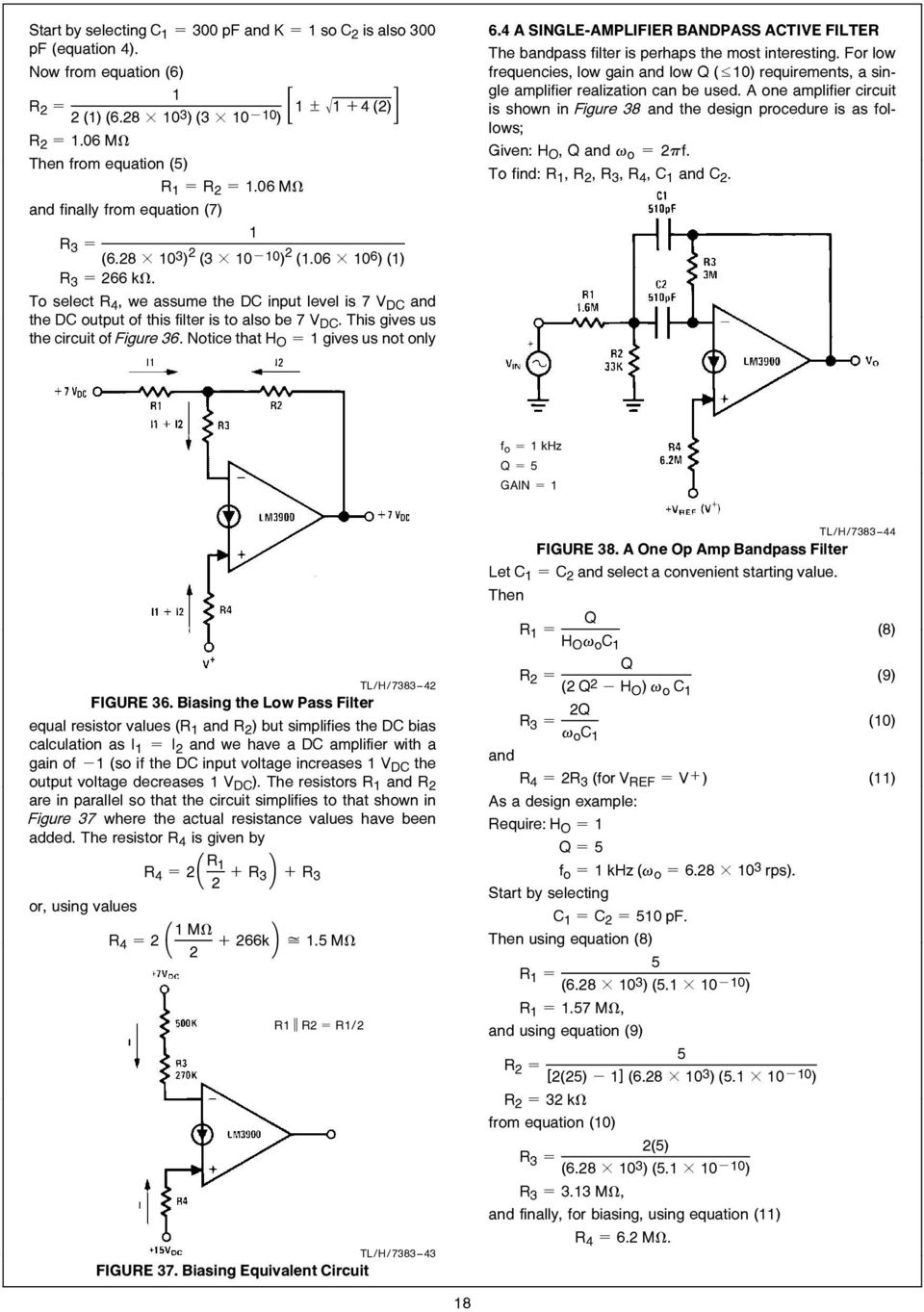 Lm3900 An 72 The A New Current Differencing Quad Of Plus Or Active Transimpedance Amplifier Circuit To Also Be 7 V Dc This Gives Us Figure 36 Notice That