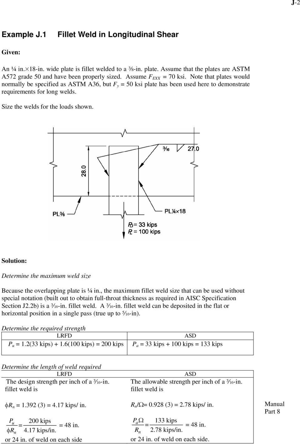 CHAPTER J DESIGN OF CONNECTIONS - PDF