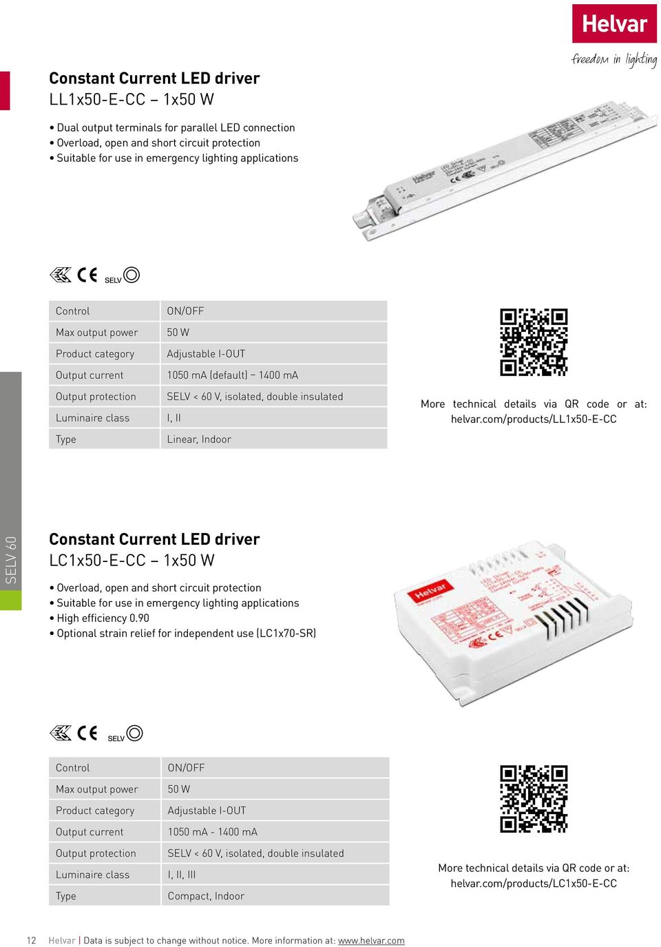 Led Modules Pages Accessories Page 37 Pdf 1050ma Flashlight Driver Board 5 Mode Circuit Com Products Ll1x50 E Cc Selv 60 Constant Current Lc1x50