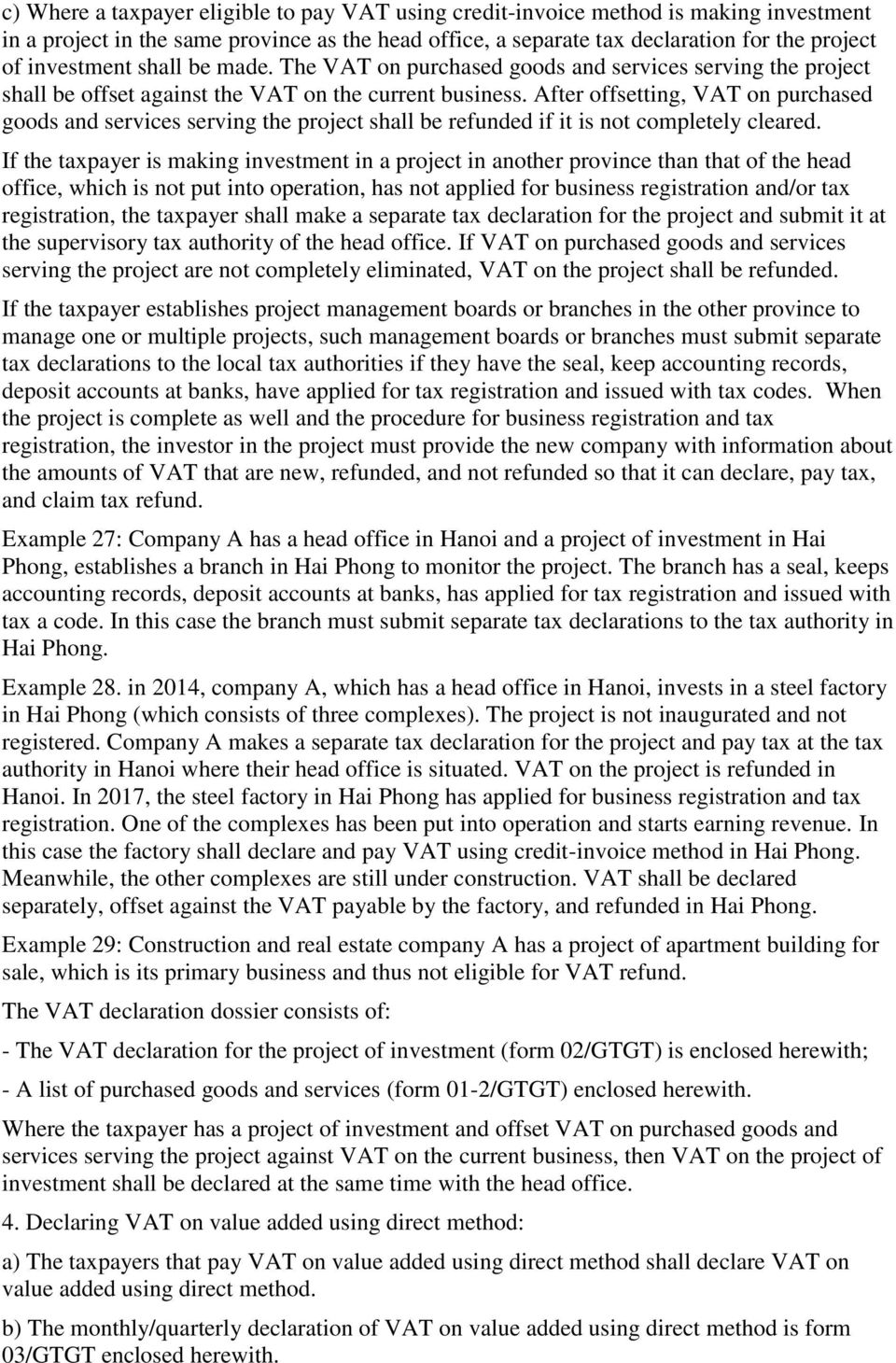Ministry Of Finance Socialist Republic Vietnam Independence Next To Basic Electricitygtgt After Offsetting Vat On Purchased Goods And Services Serving The Project Shall Be Refunded If