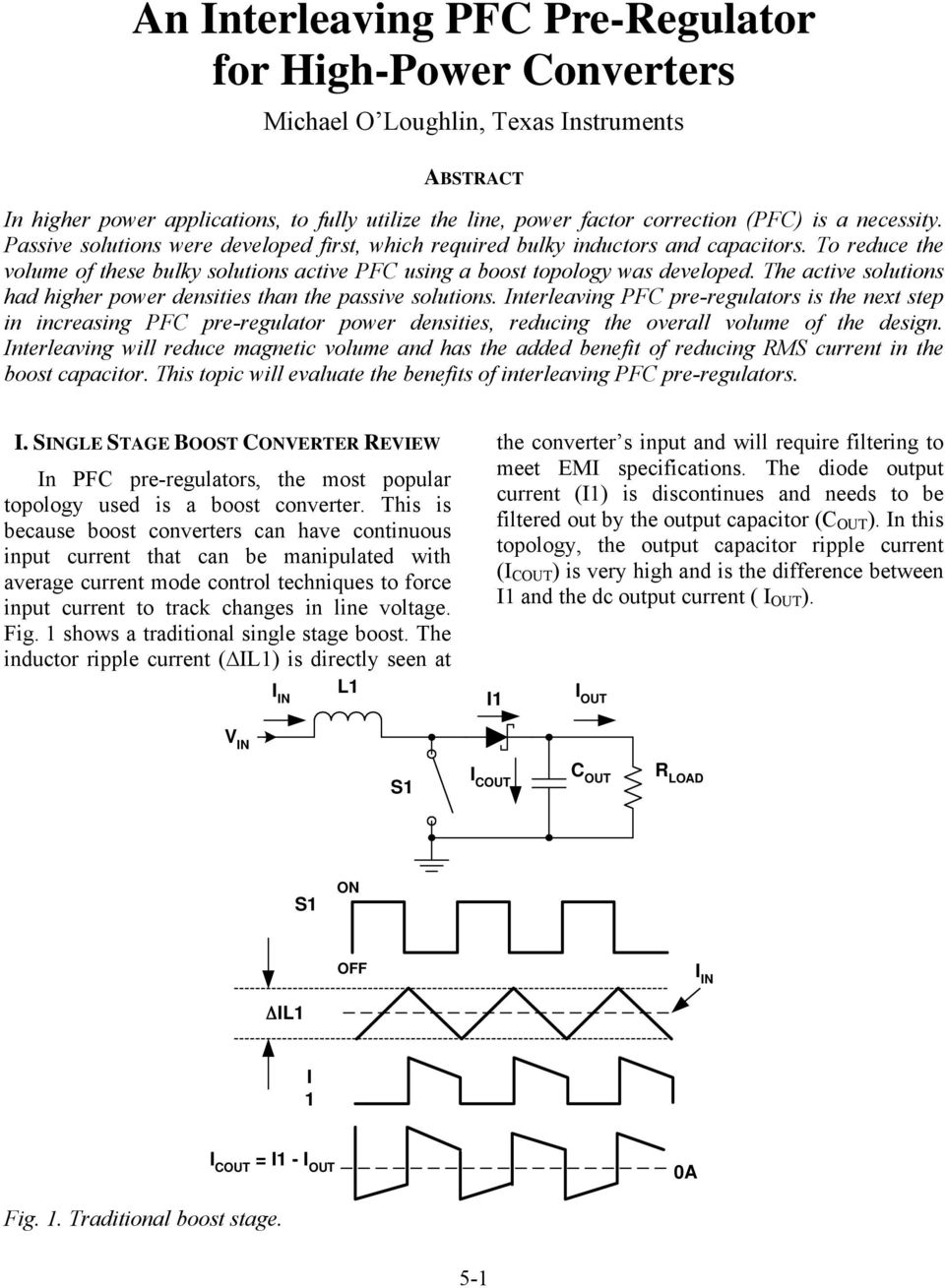 Topic 5 An Interleaved Pfc Preregulator For High Power Converters Pdf Converter Operation Frequency Ripple Reduction The Active Solutions Had Higher Densities Than Passive