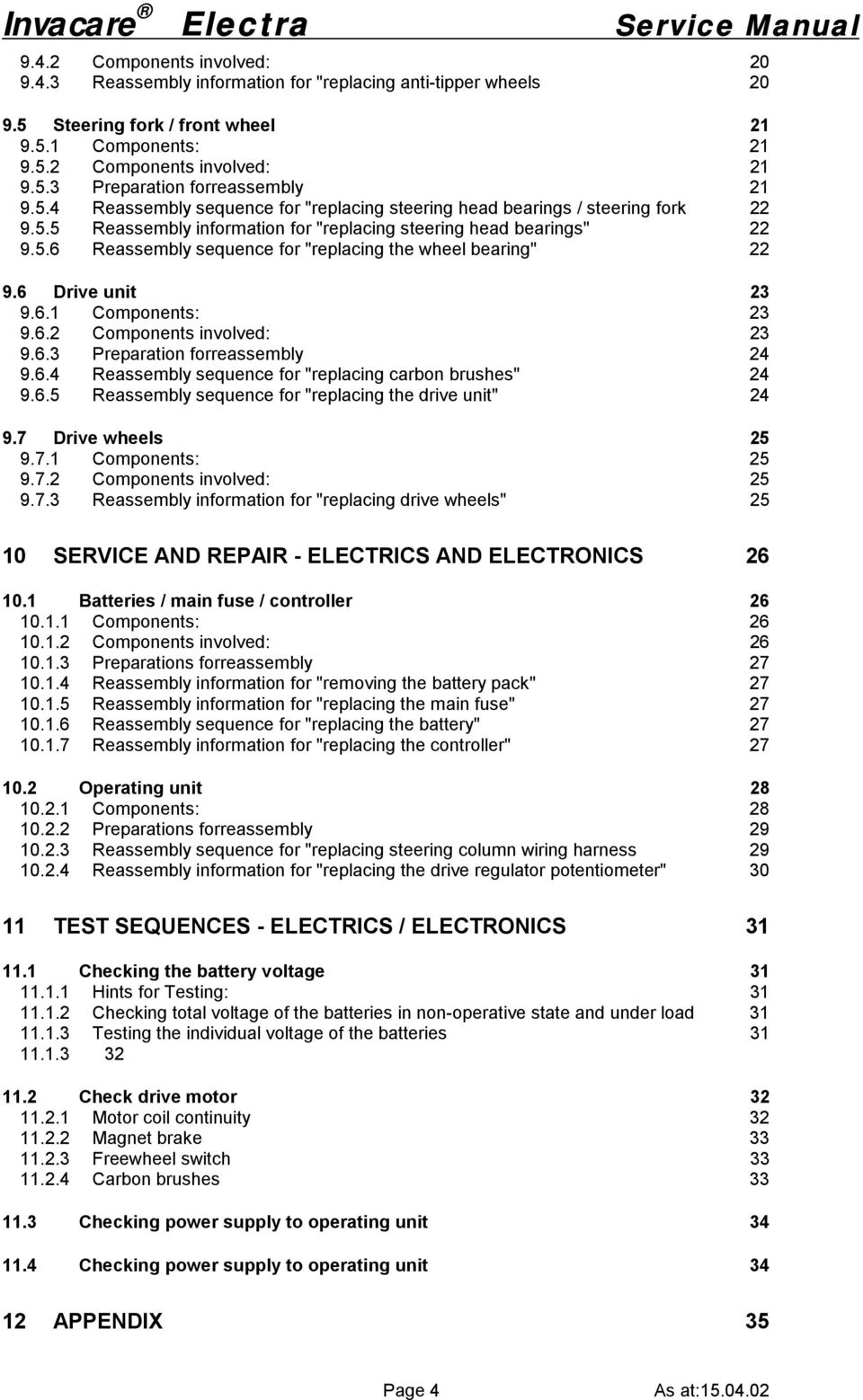 Invacare Electra Scooter Service Manual Pdf Steering Column Wiring Harness 6 Drive Unit 3 96 Components Involved