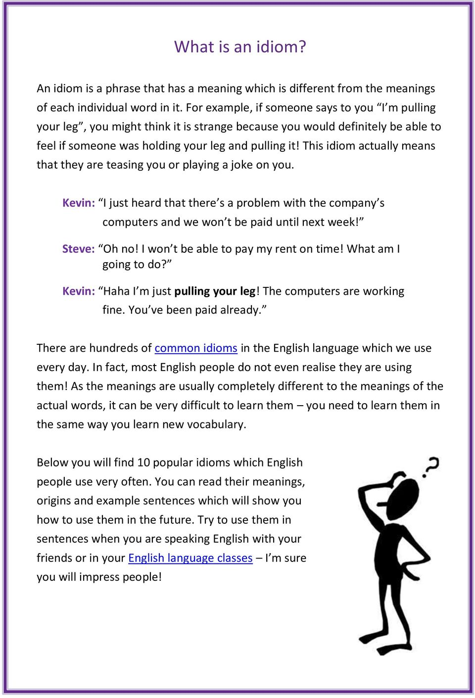 10 Common English Idioms and How to Use Them  Learn the meanings and
