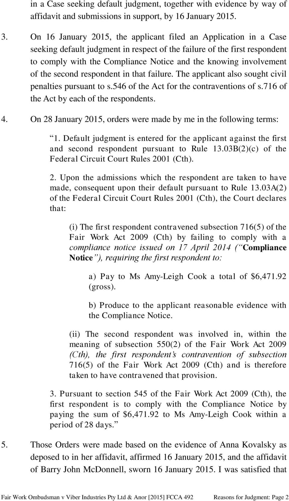 Second Circuit Rules That Failing To >> Federal Circuit Court Of Australia Pdf