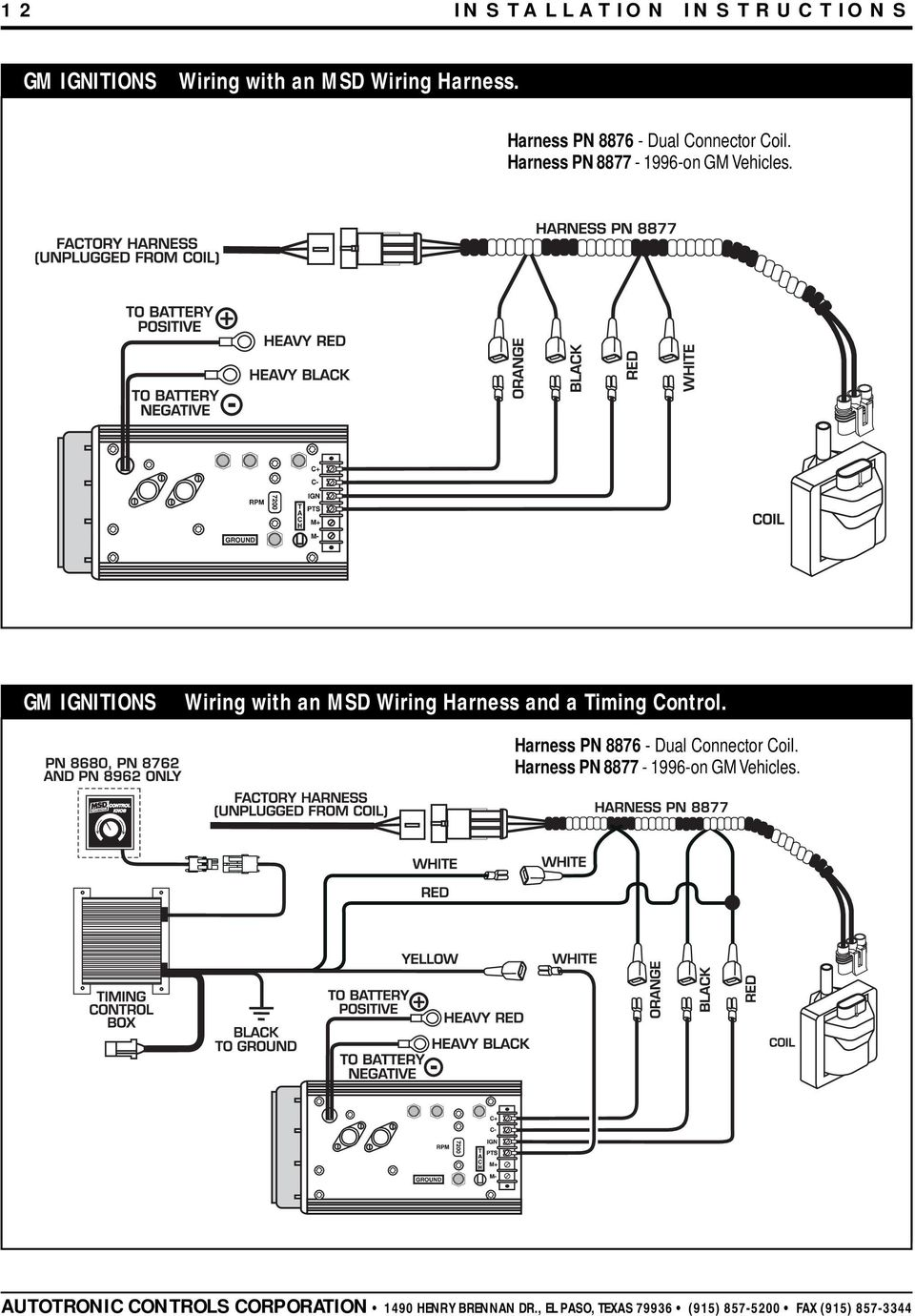 MSD 7AL-2 Ignition PN 7220, 7224, 7226, PDF