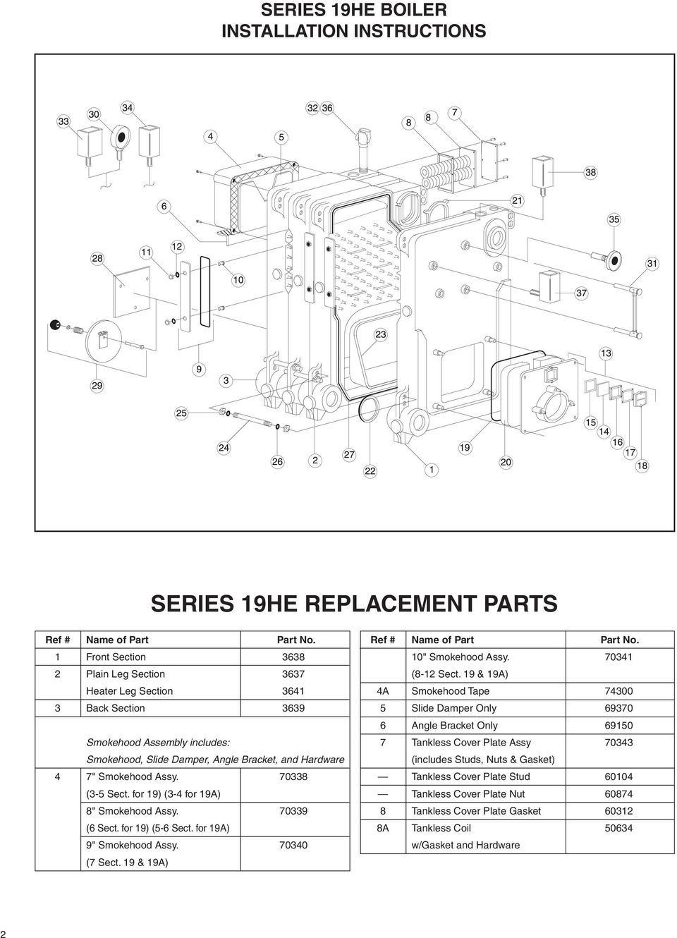 SERIES 19HE BOILER INSTALLATION INSTRUCTIONS - PDF