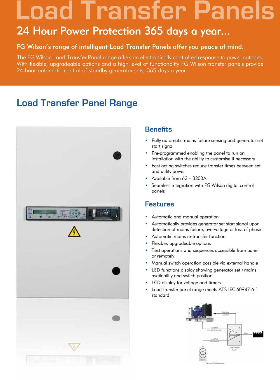 With flexible, upgradeable options and a high level of functionality FG  Wilson transfer panels provide