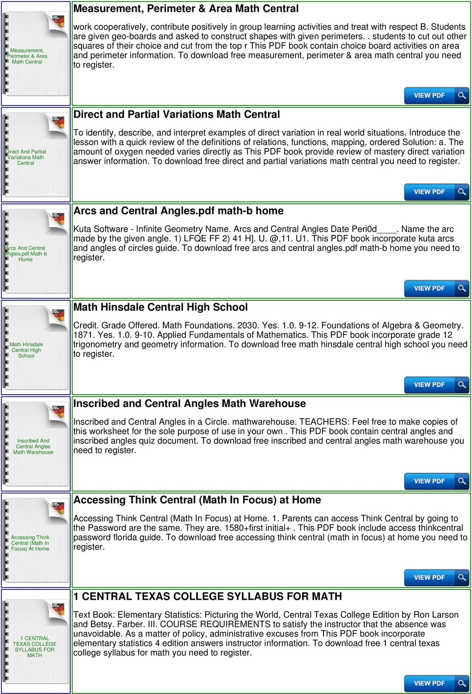 Think Central Go Math 2nd Grade - PDF