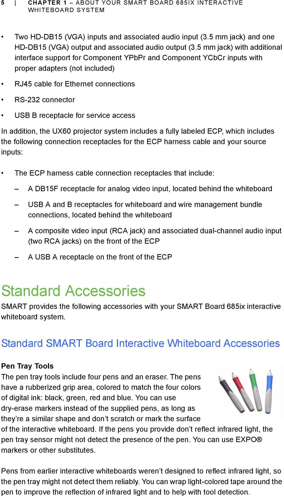 Smart Board 685ix Interactive Whiteboard System Configuration And Wiring Diagram Composite Video Cable To 15hd S For Service Access In Addition The Ux60 Projector Includes A Fully Labeled Ecp