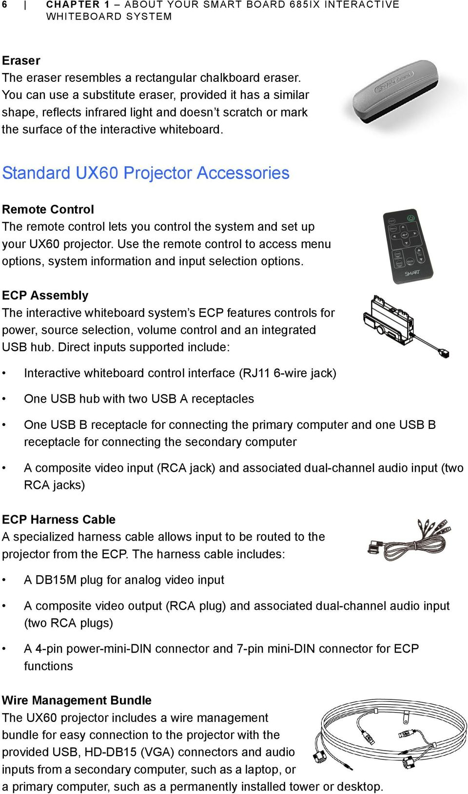 Smart Board 685ix Interactive Whiteboard System Configuration And Wiring Diagram Composite Video Cable To 15hd S Standard Ux60 Projector Accessories Remote Control The Lets You Set
