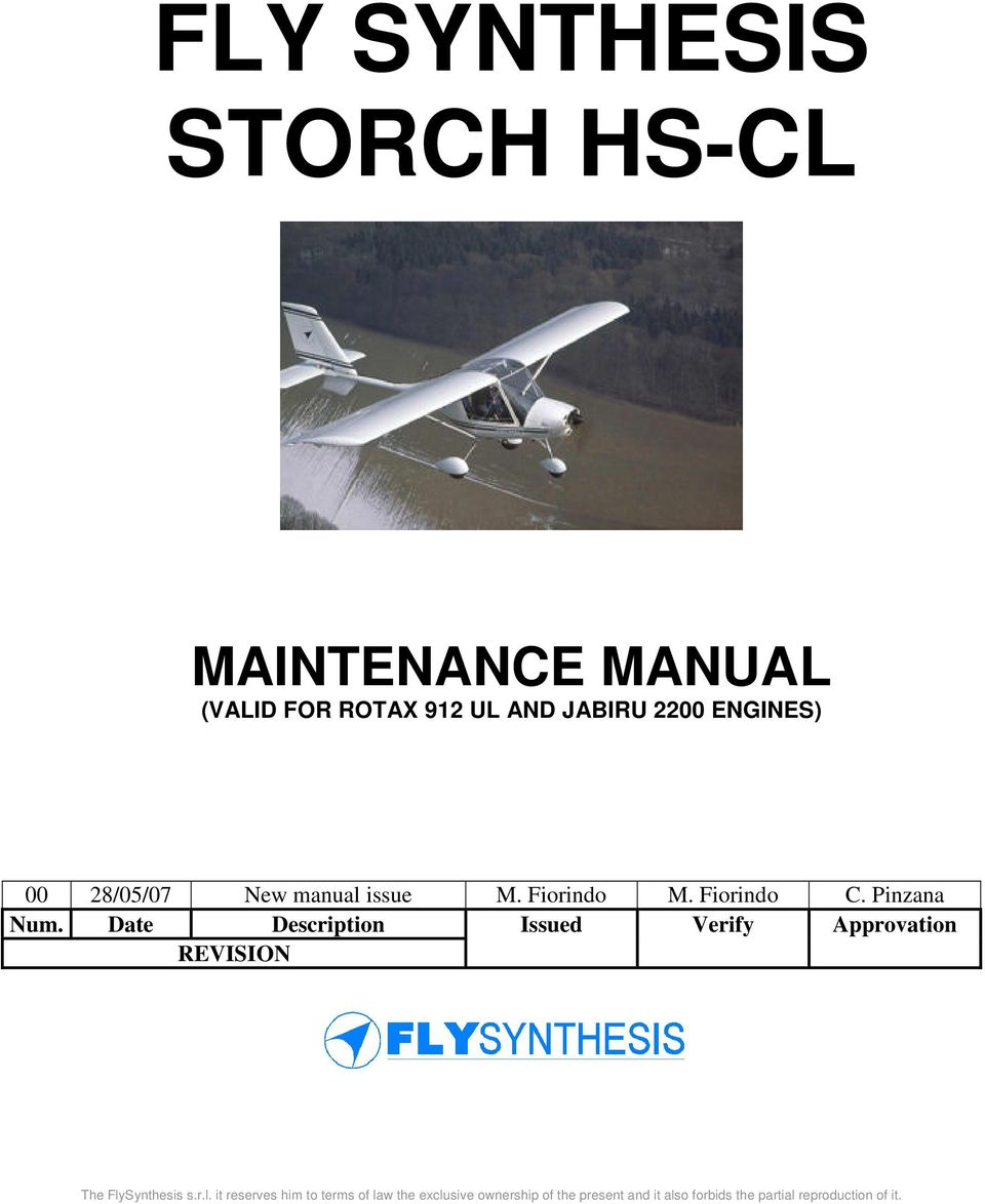 FLY SYNTHESIS STORCH HS-CL - PDF