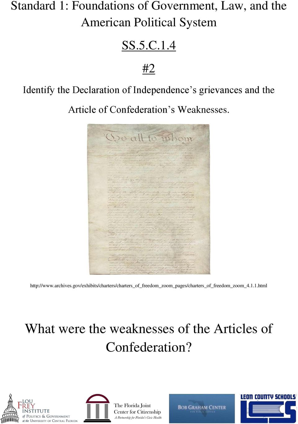 weaknesses of the declaration of independence