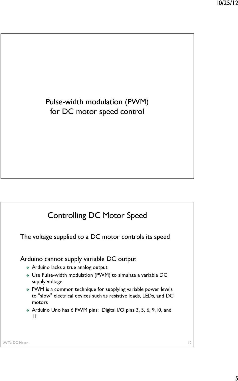Basic Dc Motor Circuits Pdf Is A Circuit To Control Speed Uses Pulse Width Modulation Pwm Simulate Variable Supply Voltage Common Technique For