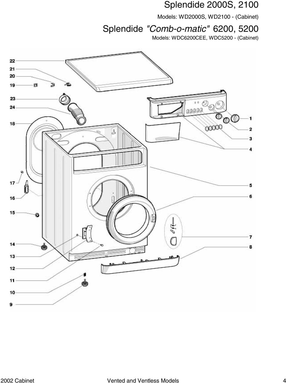 combo washer dryer parts breakdowns pdf