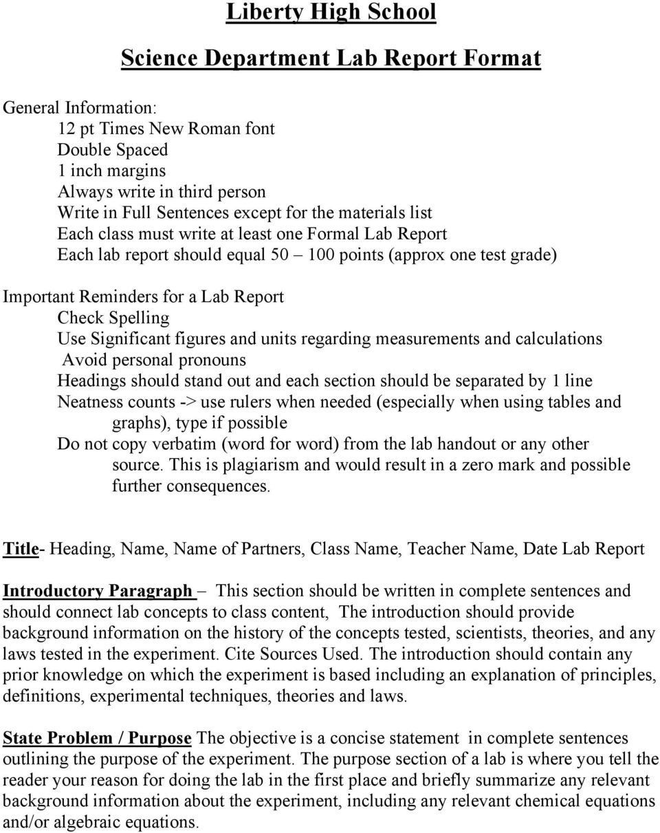 thermochemistry formal lab report