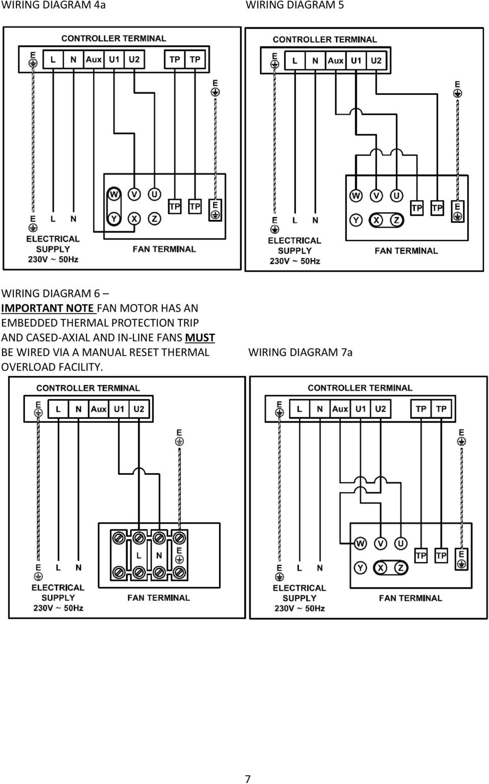 Reb 1 3 5 6 8 10 12 16 Pdf How To Wire A Light Switch Wiring Diagram Besides Speed Fan Motor 7a 7 Protection Trip And Cased Axial In Line Fans Must Be