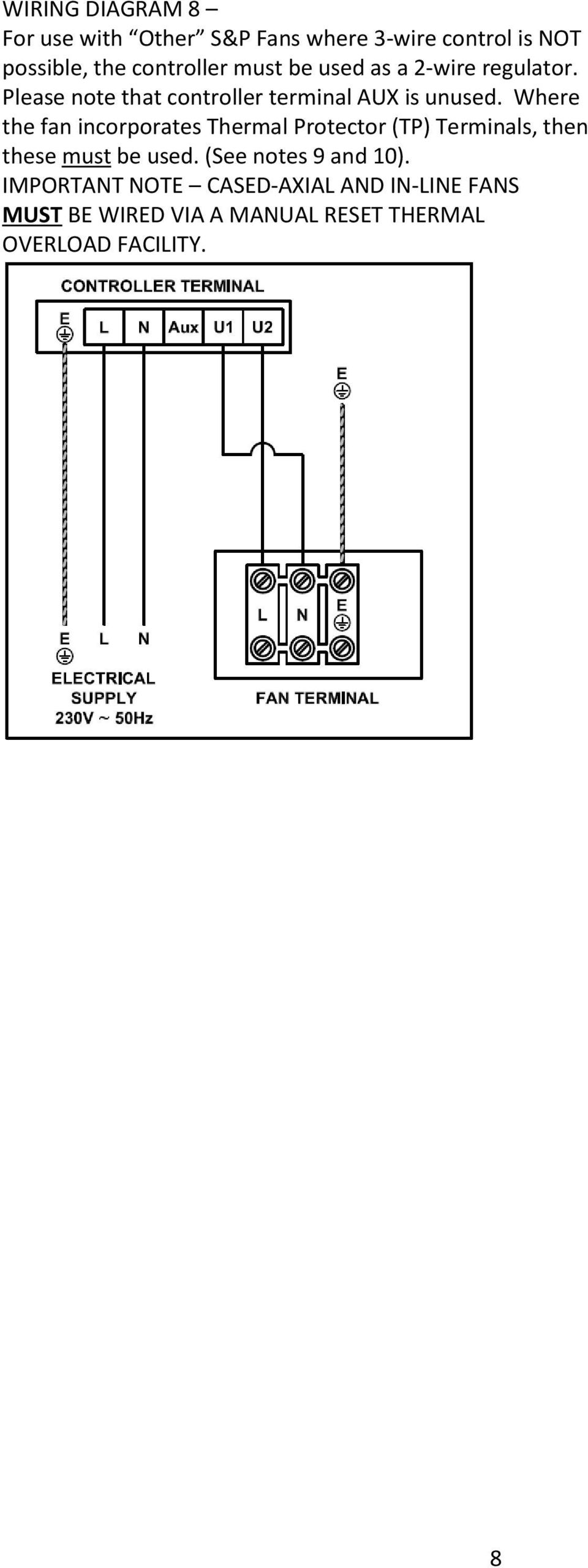 Reb 1 3 5 6 8 10 12 16 Pdf Wiring Diagram In Addition Wire Condenser Fan Motor Diagrams Where The Incorporates Thermal Protector Tp Terminals Then These Must Be Used