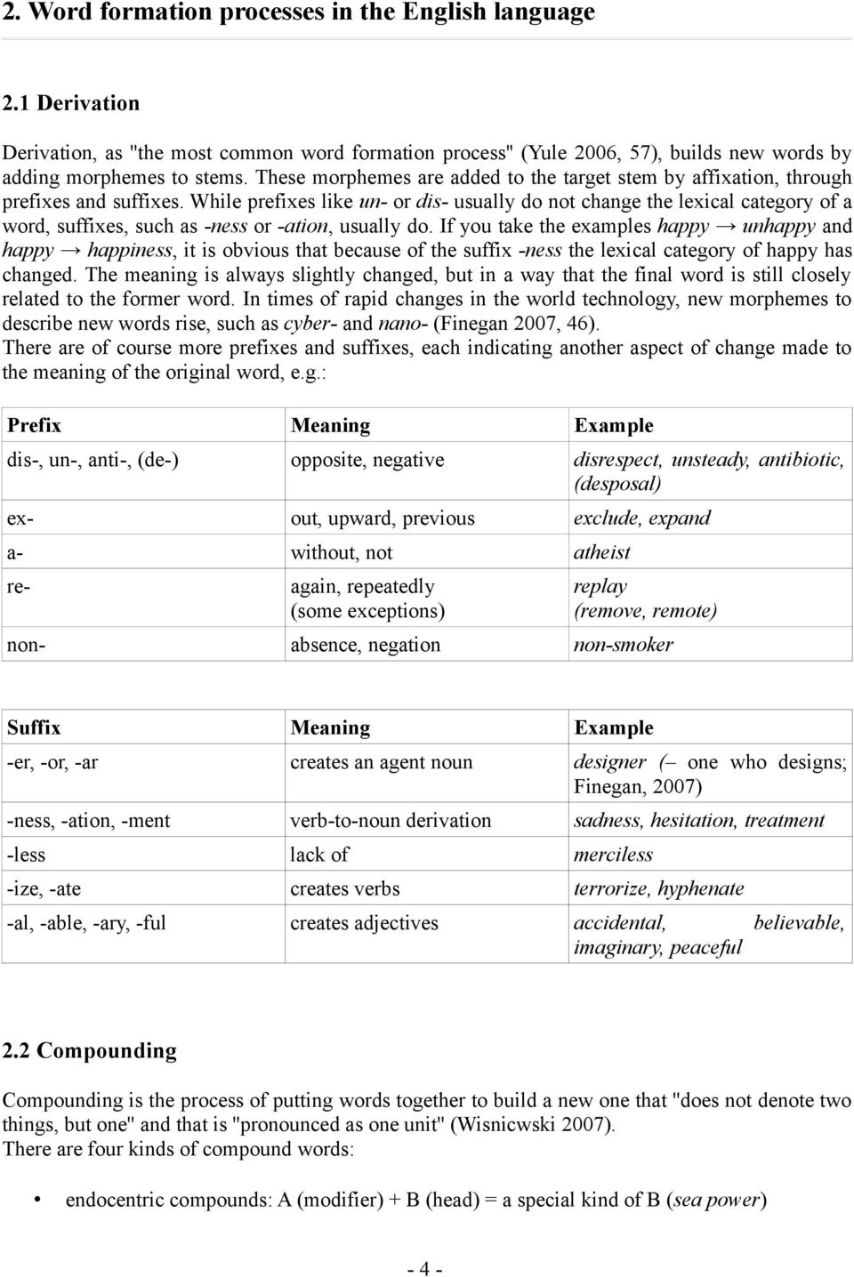 Word Formation Processes: How new Words develop in the