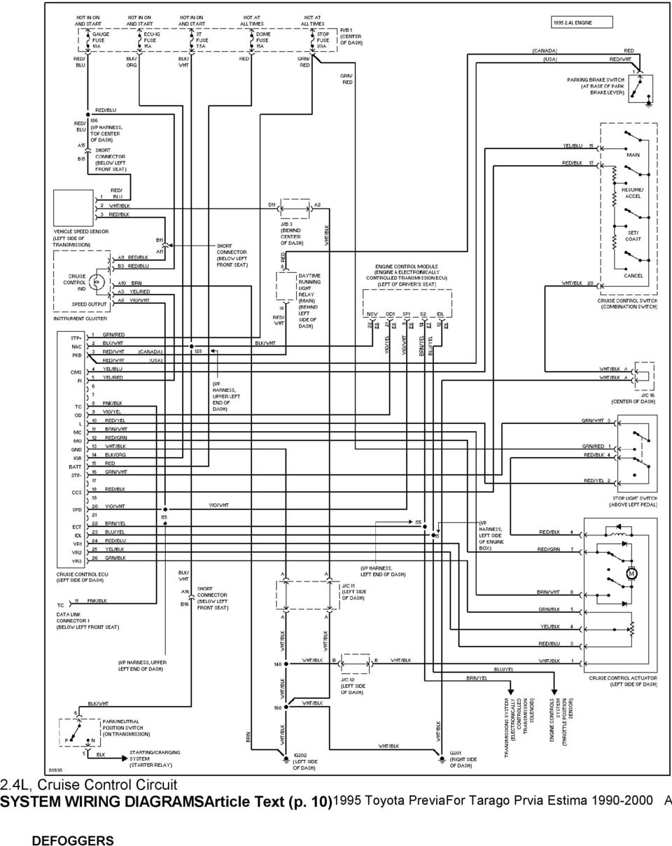 1995 system wiring diagrams toyota previa 2 4l sc a c circuit rh docplayer net Truck Headlight Wiring Schematic for 1994 Truck Headlight Wiring Schematic for 1994