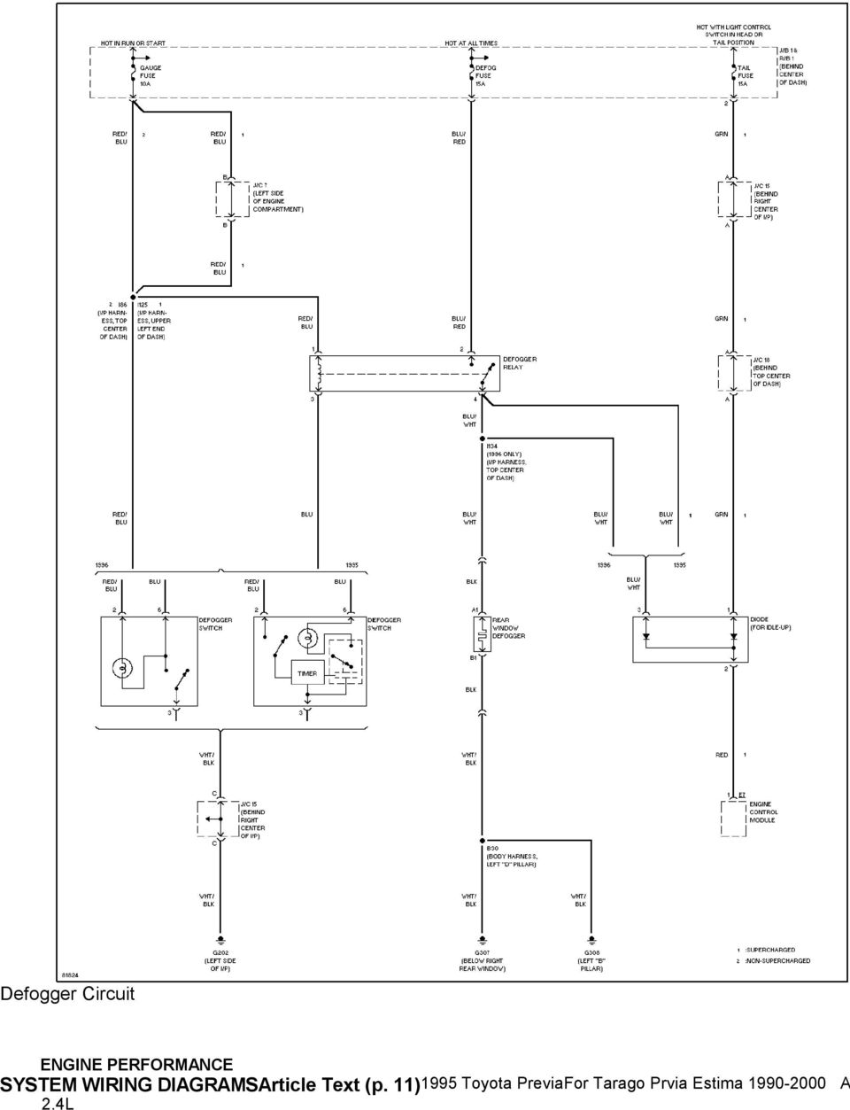 Toyota Previa Air Conditioning Wiring Diagram Library Mack Mr688s Fuse 111995 Previafor Tarago