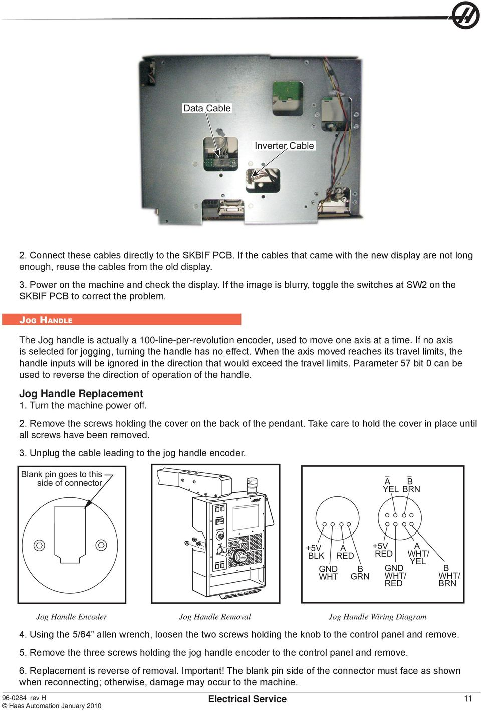 HAAS SERVICE AND OPERATOR MANUAL ARCHIVE. Electrical Service ... on