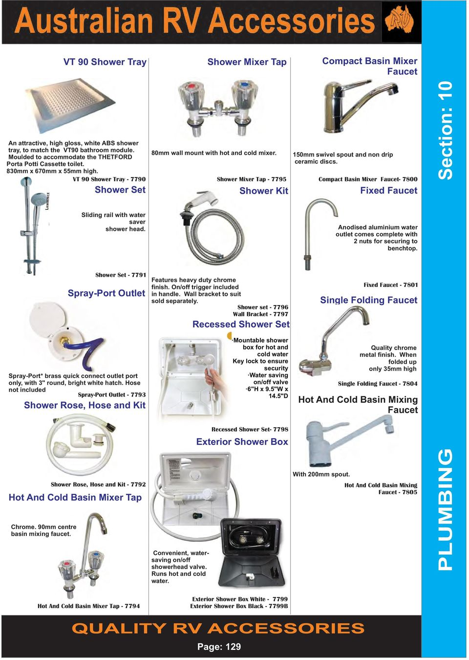 Section 10 Plumbing Quality Rv Accessories Page Pdf Blackwater Diagrams Moreover Thetford Toilet Parts Diagram Vt 90 Shower Tray 7790 Mixer Tap 7795 Set Rose
