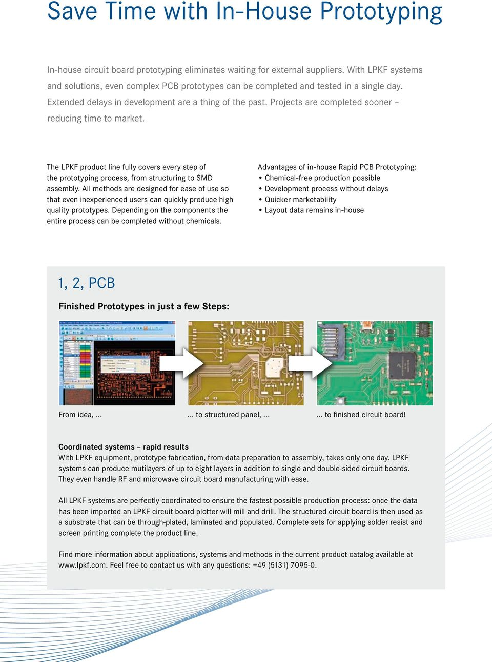Get Pcb Prototypes Sooner With In House Rapid Prototyping Pdf Printed Circuit Board Led Prototype Design Layout Services On Sale Projects Are Completed Reducing Time To Market The Lpkf Product Line Fully Covers Every