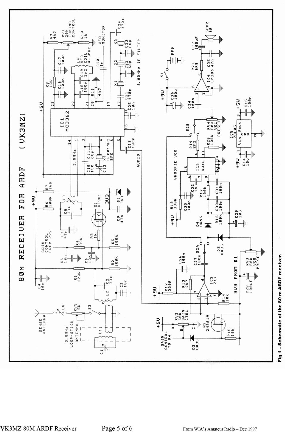 Vk3mz 80m Receiver For Ardf Pdf Circuit Diagram Ssb Transceiver 40m Of 6 From Wia S