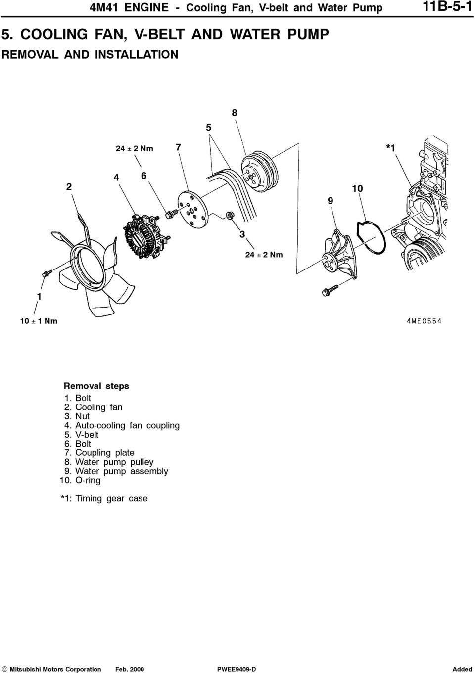 ENGINE 4M41 11B-0-1 CONTENTS - PDF