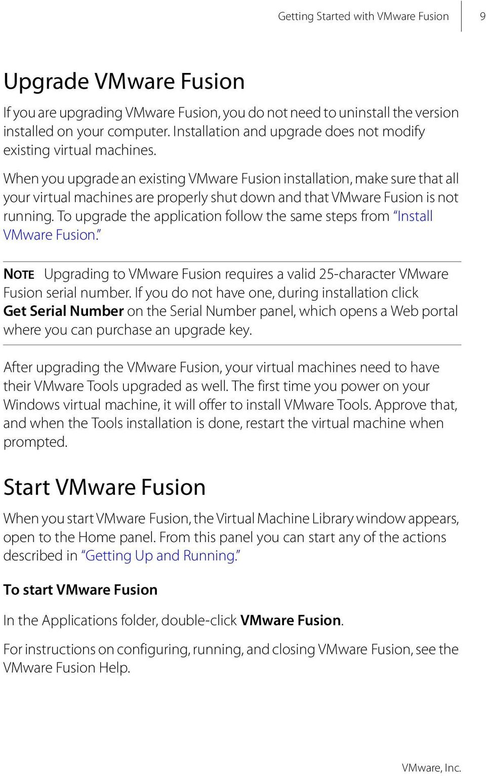 Getting Started with VMware Fusion  VMware Fusion for Mac OS
