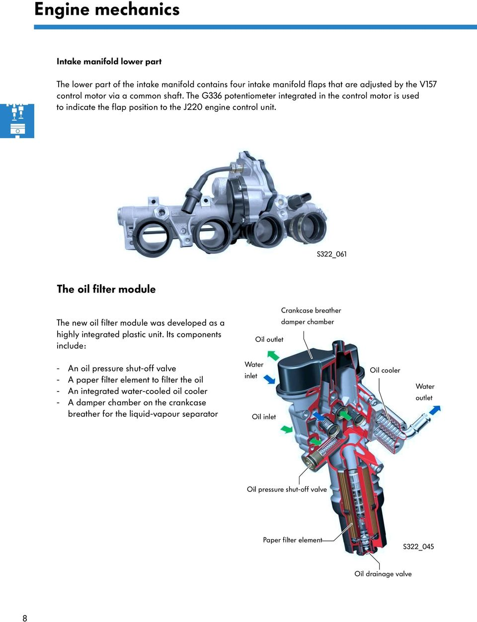 The 20l Fsi Engine With 4 Valve Technology Pdf Audi 2000 2 8l Oil Diagram S322 061 Filter Module Crankcase Breather New Was Developed As A