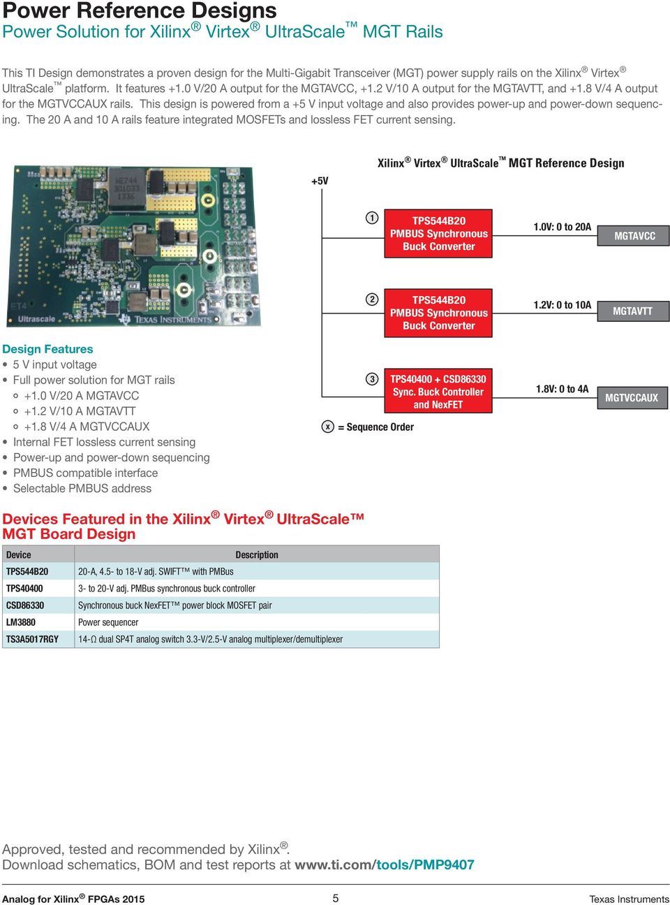 Analog For Xilinx Fpgas Pdf Wide Input Range Mux This Design Is Powered From A 5 V Voltage And Also Provides Power