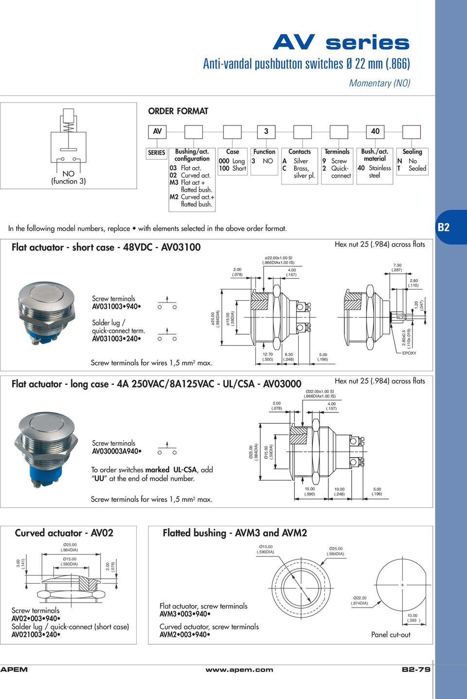 Anti Vandal And Security Pushbutton Switches Pdf Mount The Spdt Switch With Supplied Nut Secure Your Wiring So It