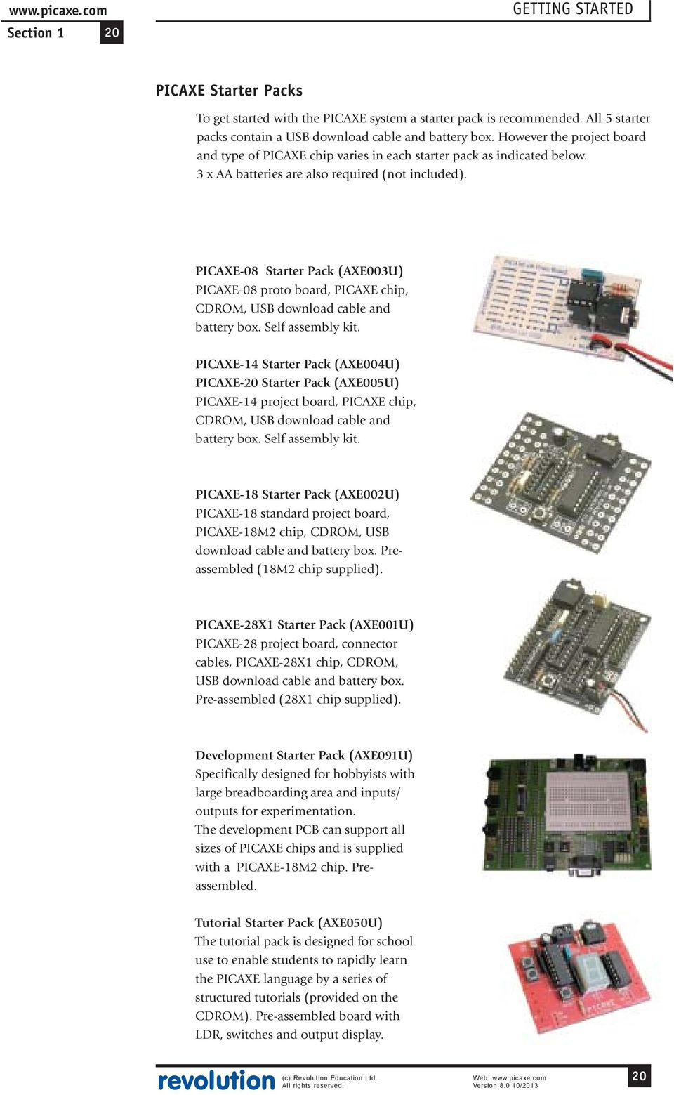 Picaxe Manual Pdf Stripboard Relay Shield Circuit Diagram Click For A Bigger Image 08 Starter Pack Axe003u Proto Board Chip
