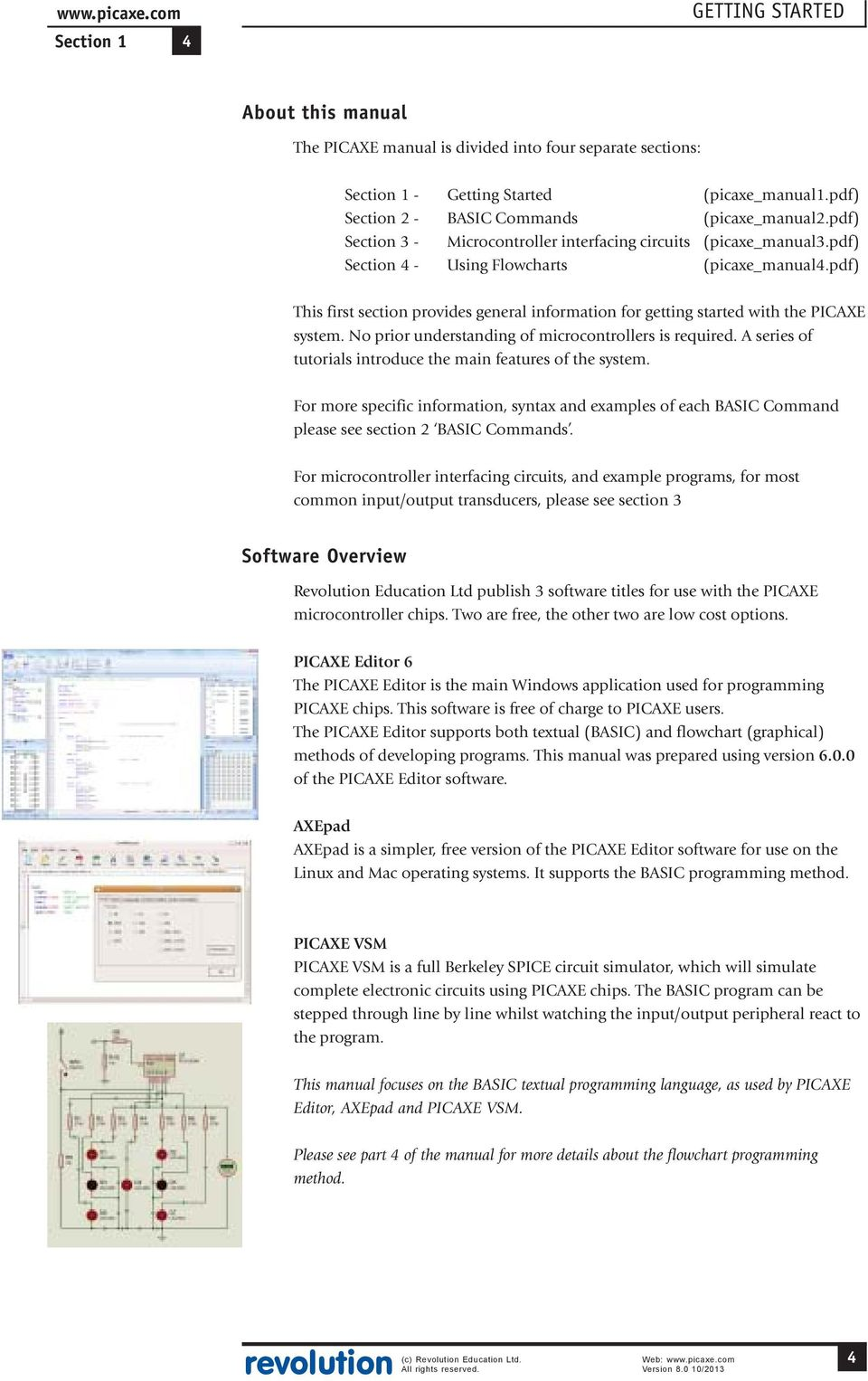 Picaxe Manual Pdf Free Circuit Simulation Software This First Section Provides General Information For Getting Started With The System