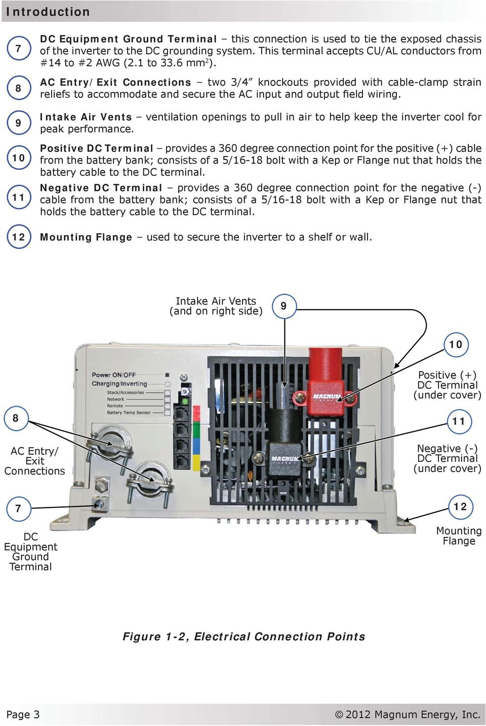 Ms Series Pure Sine Wave Inverter Charger Pdf Ambulance Wiring Diagram Ac Entry Exit Connections Two 3 4 Knockouts Provided With Cable Clamp Strain