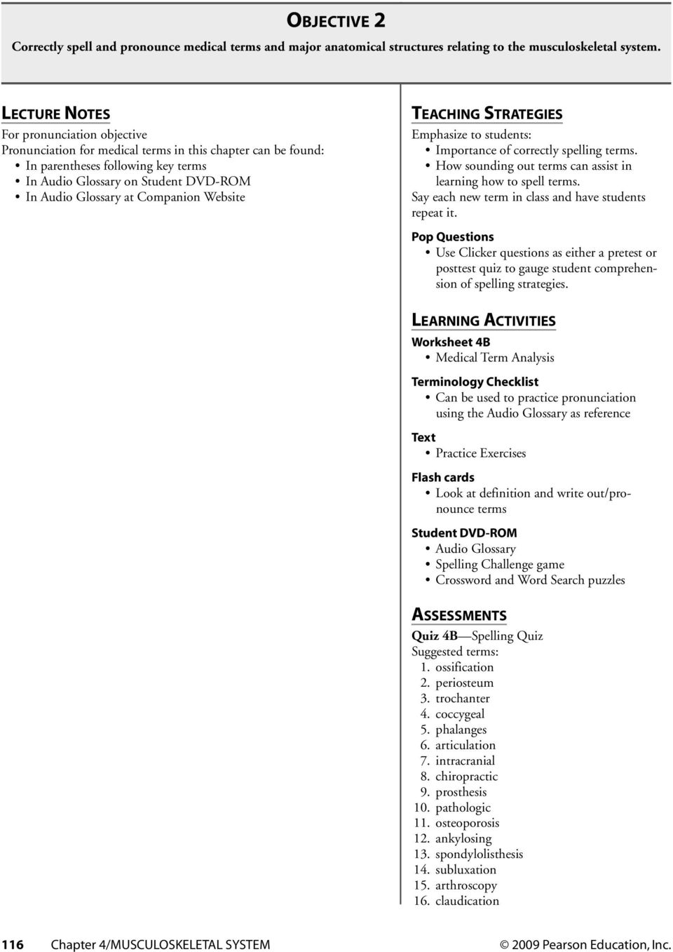 C Hapter 4 Musculoskeletal System Chapter Contents Media Library