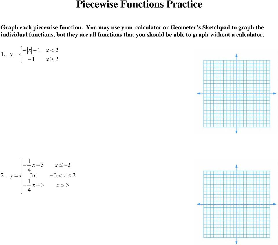 Graphing Piecewise Functions - PDF Free Download
