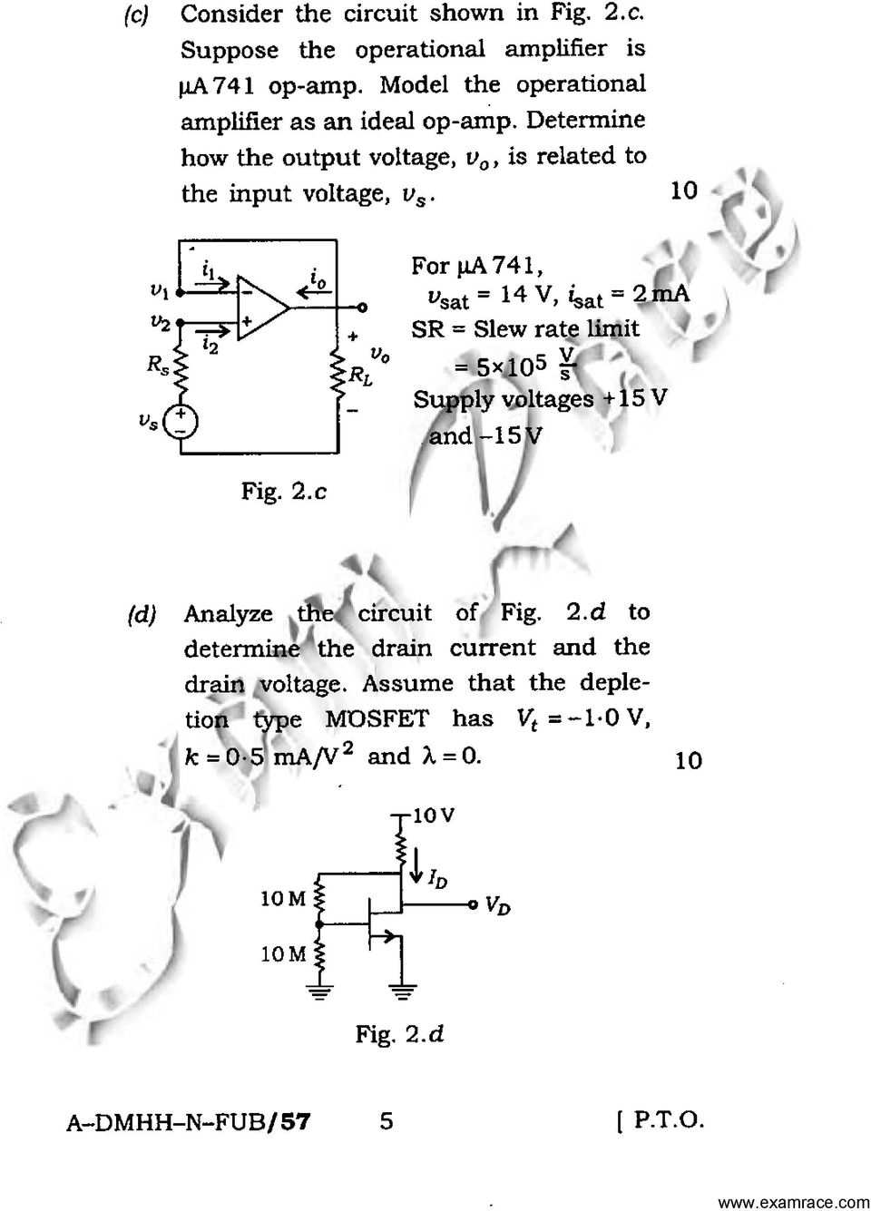 Ua741 Op Amp Diagram As Well Circuits Ex Les Problems Electronics And Telecommunication Engineering Paper Conventional 741 Vsat 14 V Isat 2ma Sr Slew Rate