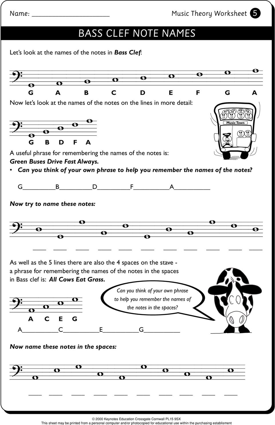 Music Theory Worksheet. Music Theory 1 - PDF