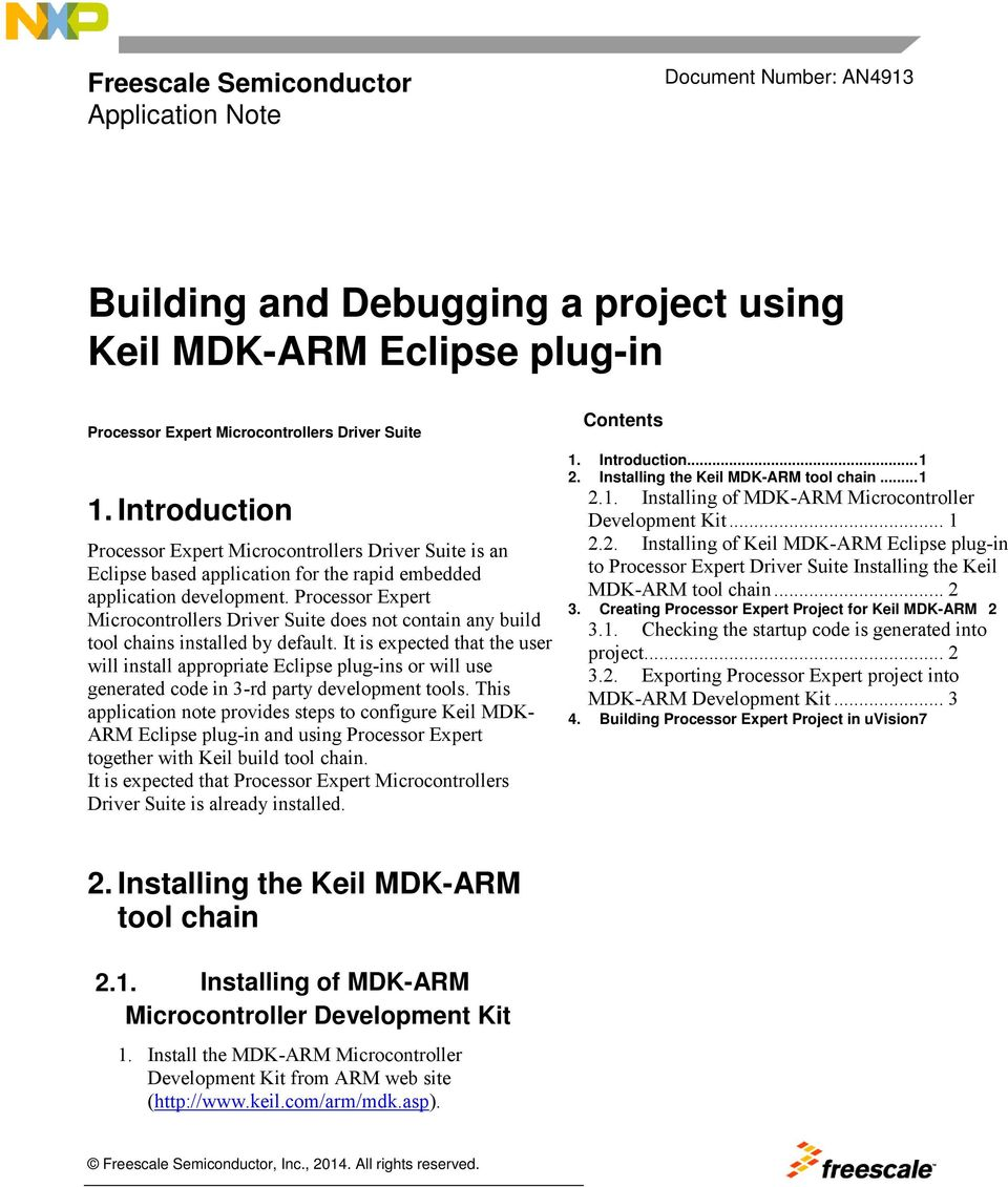 Building and Debugging a project using Keil MDK-ARM Eclipse