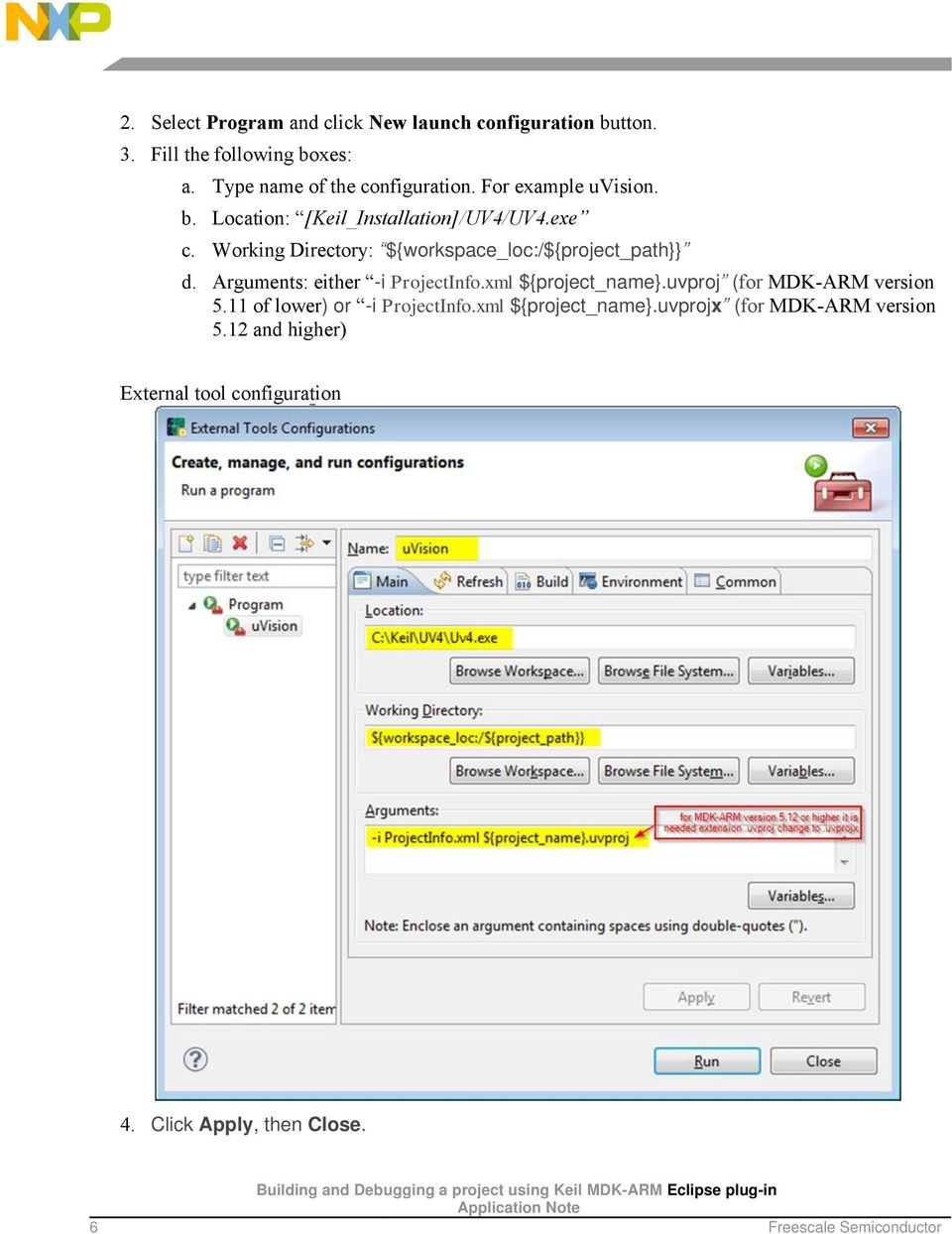 Building and Debugging a project using Keil MDK-ARM Eclipse plug-in