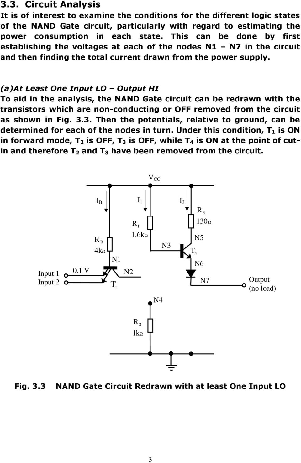 3 The Ttl Nand Gate Fig 31 Multiple Input Emitter Structure Of This Is A Transistor Logic Or Circuit Using At Least One Lo Output Hi To Aid In Analysis