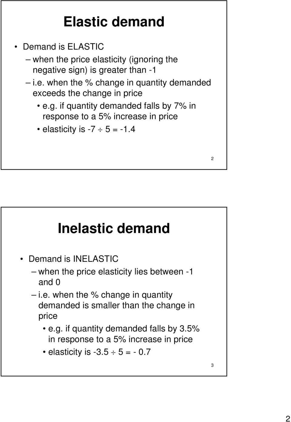 Chapter 4 Elasticities Of Demand And Supply The Price Elasticity