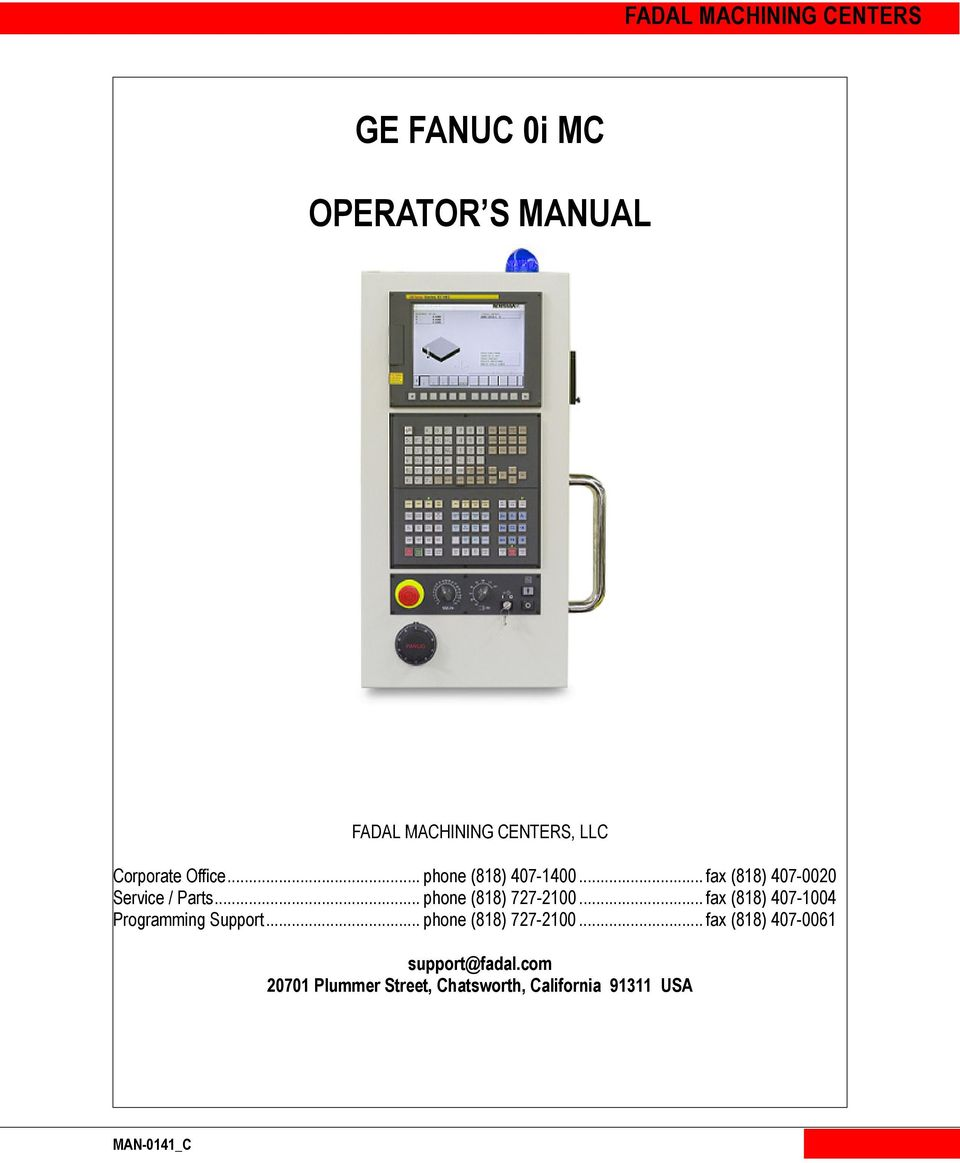 Fanuc om operator manual pdf Download Free