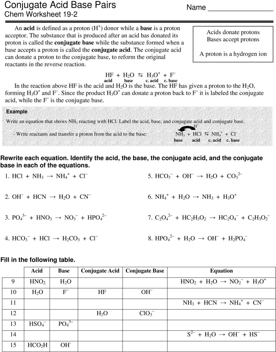 Conjugate Acid Base Pairs Worksheet Acids and Bases   wp likewise CONJUGATE ACID BASE PAIRS Name furthermore OCR A Acids and Bases by MrFairclough   Teaching Resources besides  further POLYPROTIC ACIDS AND BASES  Very important further What is the correct conjugate acid base pa      Clutch Prep likewise  furthermore Solved  Worksheet Conjugate Acid Base Pairs Determine The moreover jugate Base – Daily Inspiration Quotes besides SparkNotes  SAT Chemistry  Conjugate Acid Base Pairs as well Acids and Bases Worksheet Middle New Acids and Bases Lesson moreover  likewise Conjugate Acid Base Pairs Worksheet   Winonarasheed as well qualitative concepts worksheets – satfiles moreover Acid Base   Ms Beaucage furthermore Unit 1 Packet. on conjugate acid base pairs worksheet
