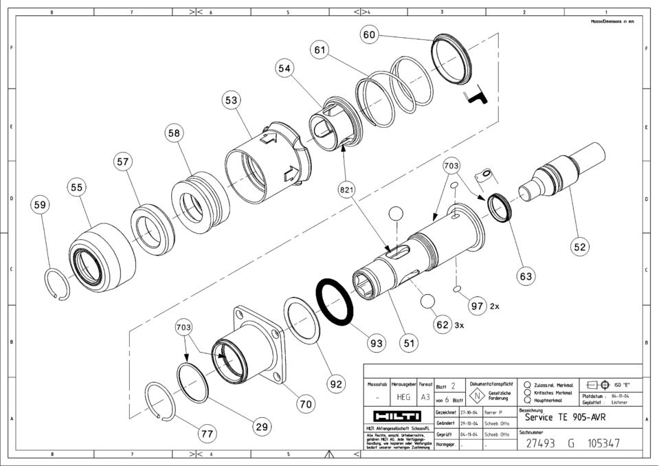 spare part list for information only will not be exchanged when rh docplayer net hilti te-905-avr repair manual Bits Hilti TE 905