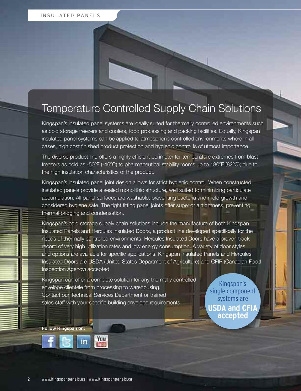 Cold Storage & Temperature Controlled Environments Insulated